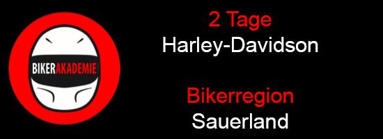 2 Tage Harley-Davidson Kurven Kurse im Sauerland