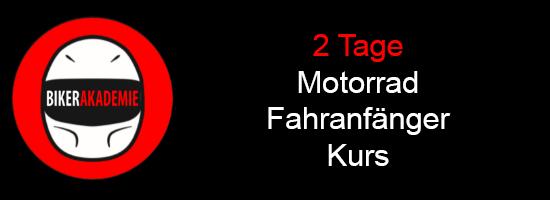 2 Tage Motorrad Fahranfänger Kurse