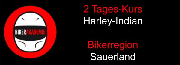 2 Tages Kurs im Sauerland für Harley-Indian